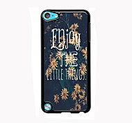 Flower Design Aluminum High Quality Case for iPod Touch 5