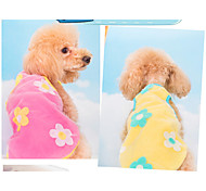 Pink/Yellow Mixed Material T-Shirt For Dogs