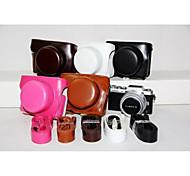 dengpin pu bolsa de cuero caja de la cámara cubierta con correa para el hombro para gf7 panasonic con lente 12-32mm (colores surtidos)
