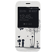 Dandelion Pattern PU Material Full Package Phone Case for Samsung Galaxy A8