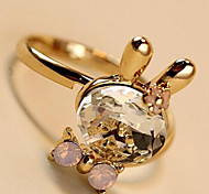 New Arrival Fashional Crystal Rabbit Ring