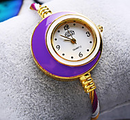 Women's New Luxury Trend Round Big Dial Fashion Quartz Bangle Watch (Assorted Colors)