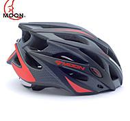 MOON Casque vélo noir et rouge PC / EPS 21 Vents de protection Casque tour