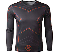 Men's Cycling T-shirt Long Sleeve Bike Autumn Breathable / Quick Dry / Wicking Black M / L / XL / XXL / XXXL / XXXXL Stretchy