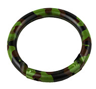 6cm Stainless Steel Outdoor Ring Buckle Carabiner Camouflage