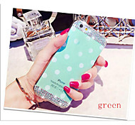 Candy Color Diamond Crystal Polka Dot Soft Cell Phone Protective Accessories Case for iphone 6