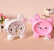 Cute Pink Cat Alarm Clock Cartoon Minions Alarm Clock (Random Color)