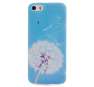 Dandelion Pattern Transparent Soft TPU Material Cell Phone Case for iPhone 5/5S