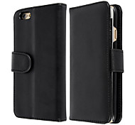 LOGROTATE®Flip Open PU Leather Wallet Stand Case Cover for iPhone 6S (Assorted Colors)