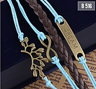 Ladies Women Jewelry Metal Handmade Woven Bangle Bracelet