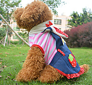 Dog Dress Pink Spring/Fall Hearts / Fruit Cosplay