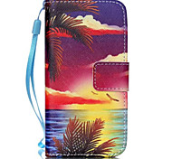 Seascape Pattern PU Leather Phone Case for iPhone 5C