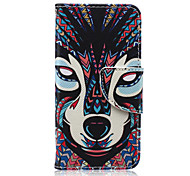 Wolf Pattern PU Leather Wallet Design Full Body Case with Stand for iPod Touch 5/6