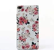 Beautiful Peony Pattern TPU Soft Case for Multiple Huawei P8/P8 Lite