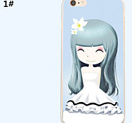 Ultra Thin Beautiful girl Pattern TPU+ABS Soft Cover for iPhone 6/6S