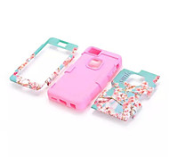 Cherry blossoms mixed mode  Silicone Case Cover For iPhone 5C(Assorted Color)