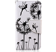 Angel Pattern PU Leather Wallet Design Full Body Case with Stand for iPod Touch 5/6