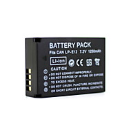 Digital Video Battery Replace Canon LP-E12 for Canon EOS-M Mirrorless Digital Camera (7.2v, 700 mAh)