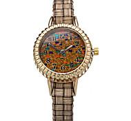 digital de mulheres com discagem graining relógio de pulso do vintage