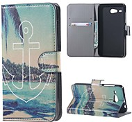 For Acer Liquid Z520 Cover Anchors Pattern Leather Wallet Flip Stand Case Acer Liquid Z520 Cell Phone Cases
