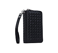 Removable Leather Cover With Card Holder Zipper Bag Wallet Pouch Mobilephone Case For Samsung Galaxy S6/S6 Edge