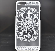 White Flower Pattern PC Material Phone Case for iPhone 6