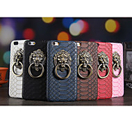 New Fashion Cool Crocodile Grain 3D Lion Head Style Case with Stand Back Cover for iPhone 6 Plus (Assorted Colors)