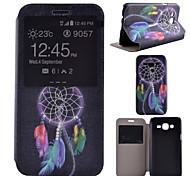 Campanula Pattern PU Material All Inclusive Bracket Models phone Case for Samsung Galaxy J5/J7