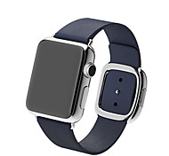 JDHDL Modern Buckle Geniune Leather Magnetic Watch Band for Apple Watch 38mm