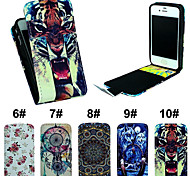 Flip-Open Up PU Leather Phone Full Body Case Cover with Card Slot for iPhone 4/4S