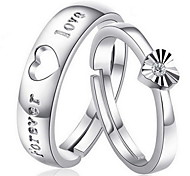 Hollow Out Heart-shaped Couple Rings Wedding Rings 2pcs Promis rings for couples