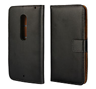 Real Original Genuine Flip Leather Wallet Case for Moto X Play XT1561 with Stand Function & Card Holders