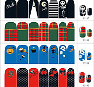 4 Sheet Mixed fashion Halloween Christmas Series Nail Sticker Art Sticker For Nail Decals