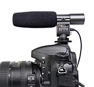 Kingma mic microfone estéreo para Canon T3i t2i 7d 5d 60d Nikon D7000 DSLR d3s dv k7 k5