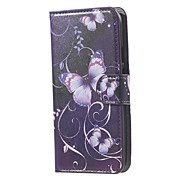 For Motorola Case Wallet Card Holder with Stand Flip Case Full Body Case Butterfly Hard PU Leather for Motorola Moto G3