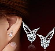 Earring Stud Earrings Jewelry Women Daily / Casual / Sports Sterling Silver / Stainless Steel 2pcs Silver