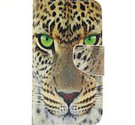 motif léopard féroce PU cuir de cas complète du corps avec support pour Samsung Galaxy J5