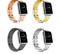 Black/Yellow Golden/Rose Golden IP Plating Stainless Band for Apple Watch 38mm/42mm Band Three-Colour Assorted Colors