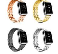 negro / amarillo dorado / ip rosa de oro chapado en acero banda de reloj de la manzana de la banda de 38 mm / 42 mm de tres colores