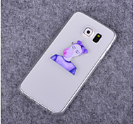 Girl Blow Balloon Pattern TPU Soft Case for Samsung S3/S3 Mini/S4/S4 Mini/S5/S5 Mini/S6/S6 Edge/S6 Edge Plus