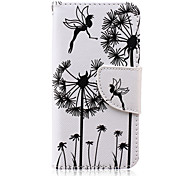 Dandelion Pattern PU Leather Full Body Case with Screen Protector And Stand for iPod Touch 5/Touch 6