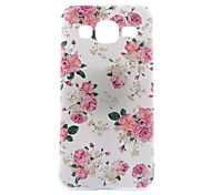 Pink Flower Pattern Transparent PC Material Phone Case for Samsung Galaxy G360/J1