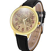 Women's World Map Style PU Band Quartz Analog Wrist Watch (Assorted Colors)
