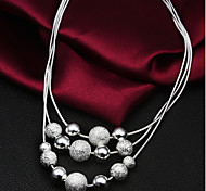 Necklace Strands Necklaces Jewelry Wedding / Party / Daily / Casual Fashion Silver Plated Silver 1pc Gift