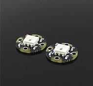 mini ws2812 rgb led puistjes - zwart (2 stuks)