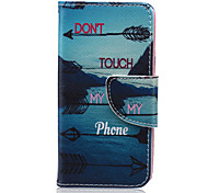Feather Arrow Pattern PU Leather Full Body Case for iTouch 5