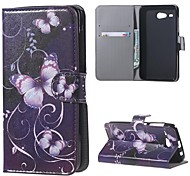 Fashion Purple Butterfly Pattern Leather Wallet Flip With Stand Case For Acer Liquid Z520 Cell Phone Bags Cases