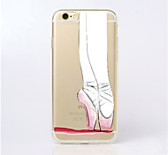 MAYCARI® Ballet Dancer Transparent Soft TPU Back Case for iPhone 6 Plus