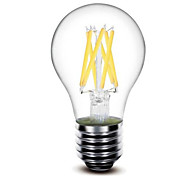 1 pcs shenmeile E26/E27 6 W 6 COB 600 LM Warm White G Dimmable LED Filament Lamps AC 220-240 / AC 110-130 V