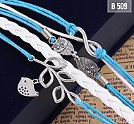 Fashion Women Braided Handmade Bangle Bracelet Gift Jewelry